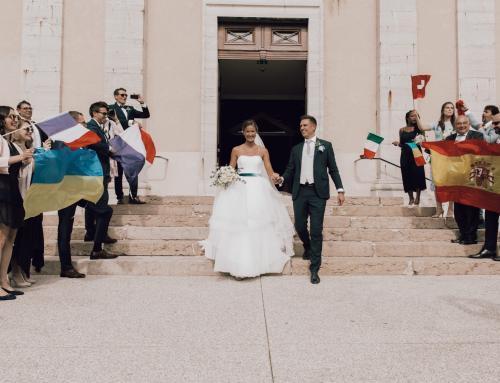 Mottohochzeit: Brautpaar im Fußballfieber