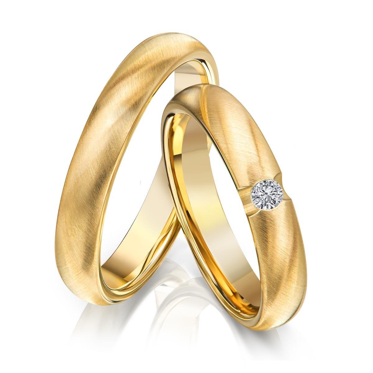 Größe und Menge selber wählen 1 Wunderschöne Ehering Edelstahl Gold Plattiert