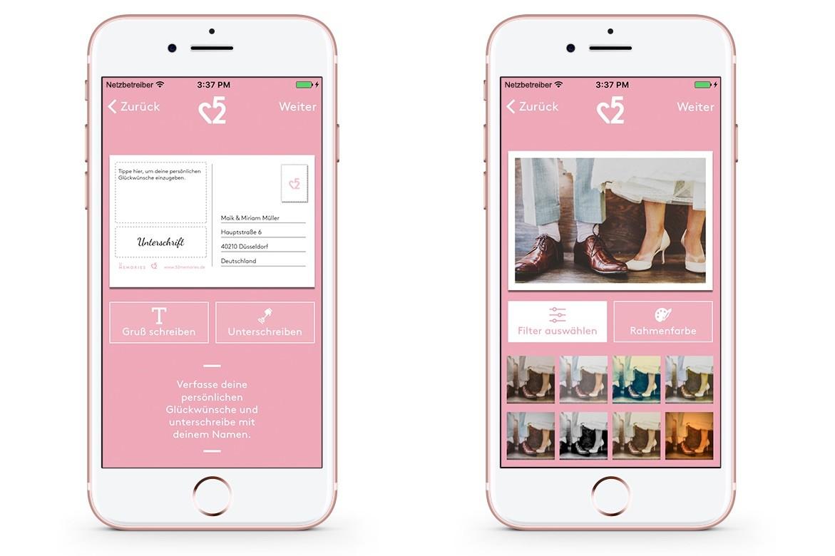 Individuelles Hochzeitsgeschenk mit der 52memories-App