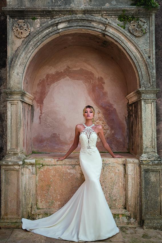 elegantes Brautkleid mit Spitze