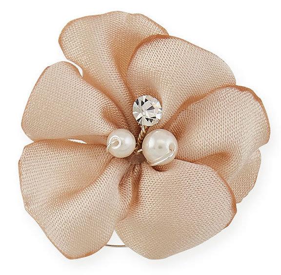 Curly altrosa Blume mit Perlen