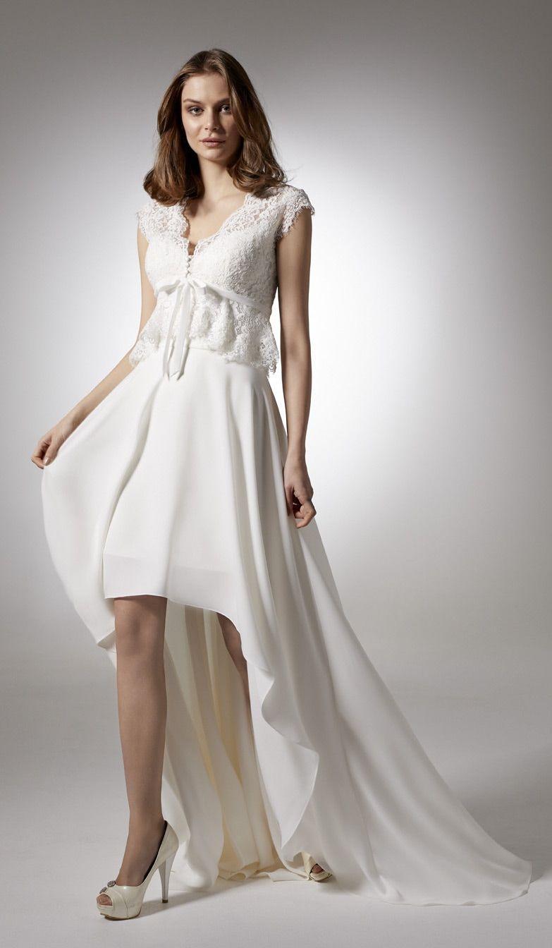 Brautkleid im Vokuhila-Schnitt