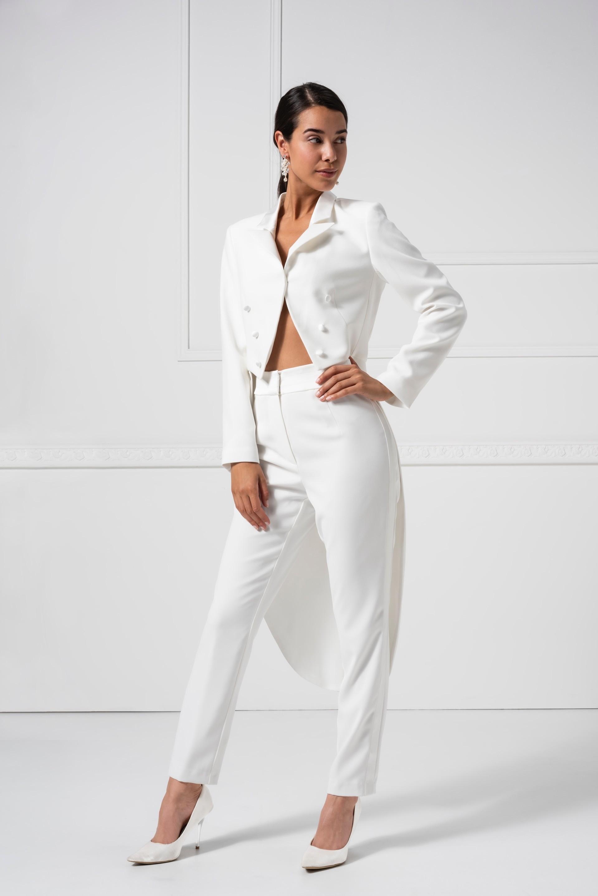 Frack mit Hose für die Braut von Weise in Weiß