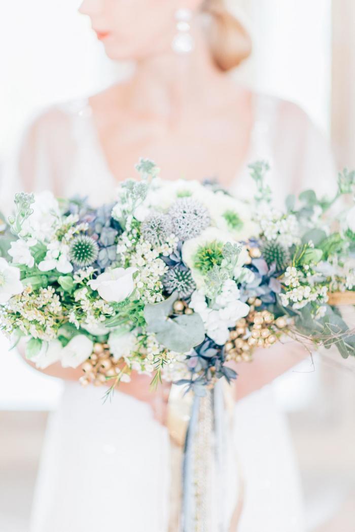 Brautstrauß mit Zierlauch