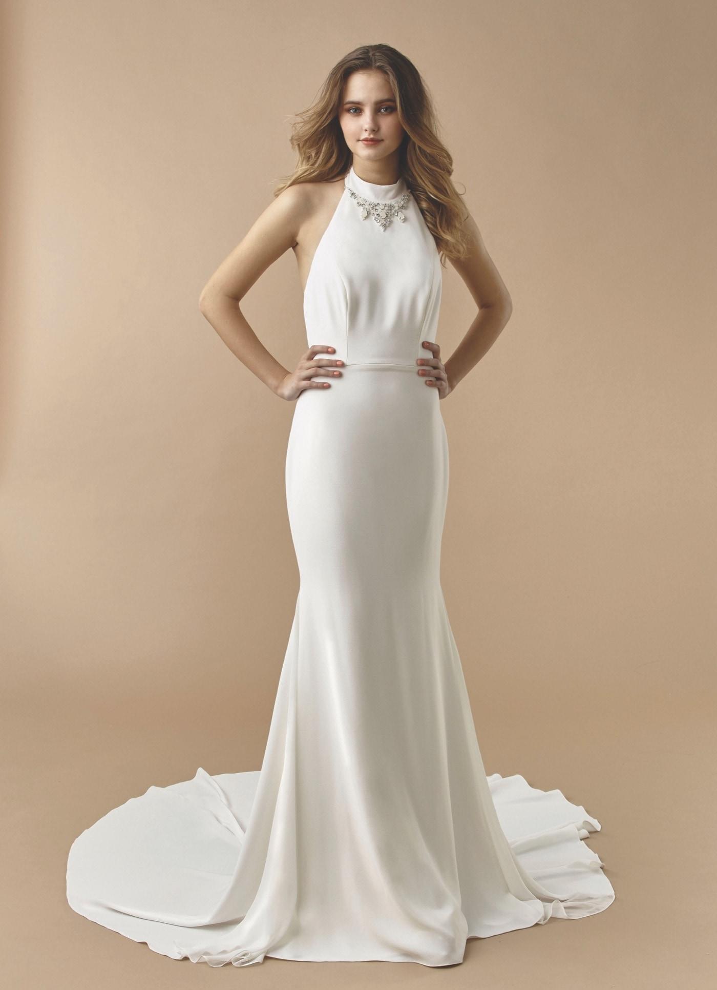 Brautkleid mit Neckholder-Ausschnitt von Beautiful Bridal