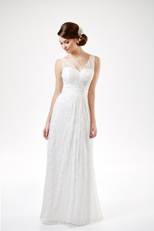 Brautkleid mit V-Ausschnitt von Weise