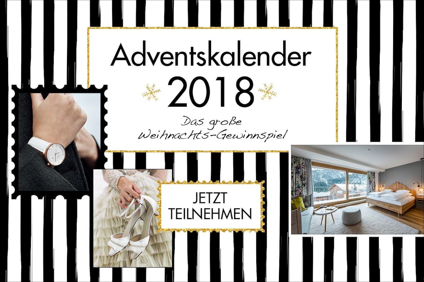adventskalender 2018 gro es weihnachts gewinnspiel heiraten mit. Black Bedroom Furniture Sets. Home Design Ideas