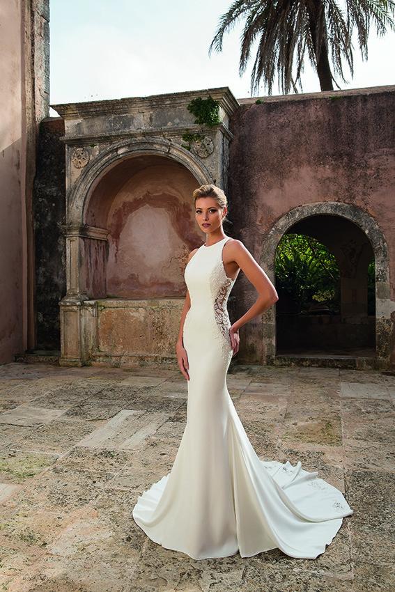 Brautkleid elegant ohne Ärmel
