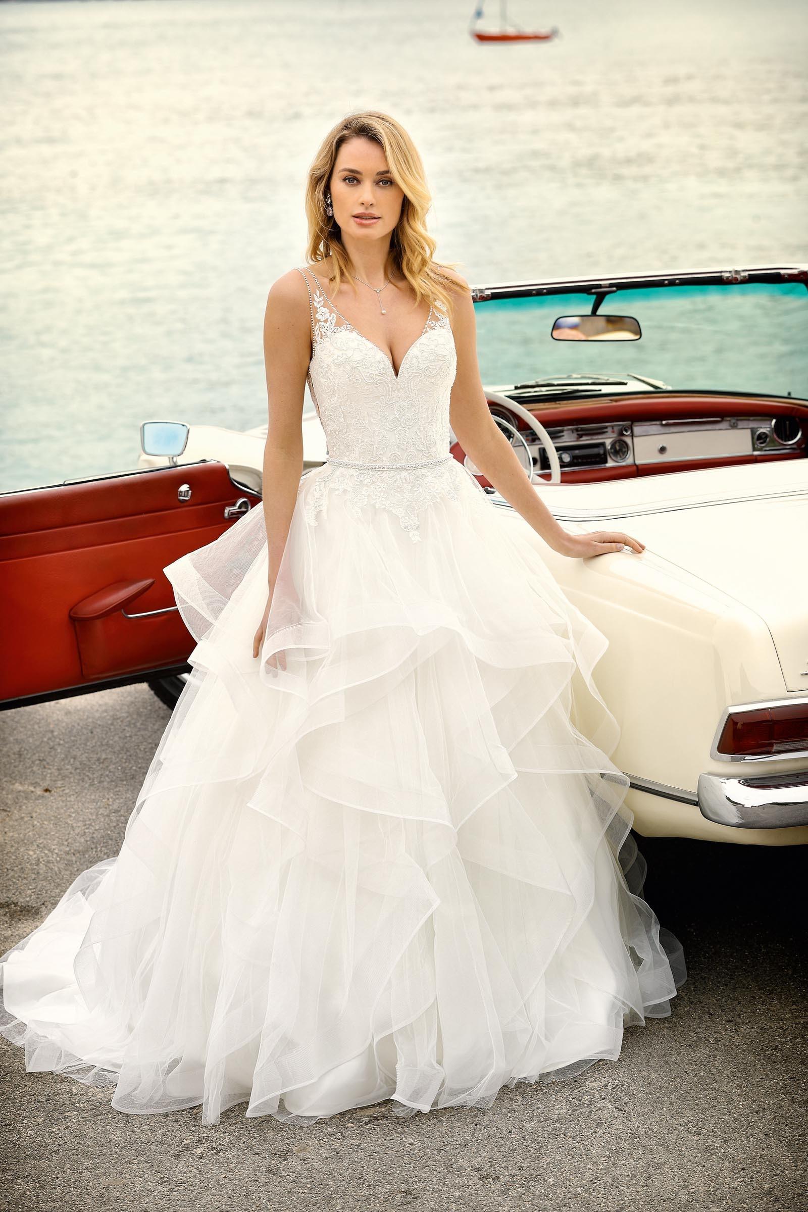 Brautkleid mit viel Volumen