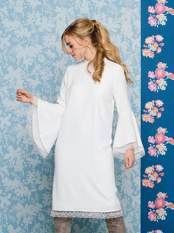 Brautkleid mit Ärmeln in weiß