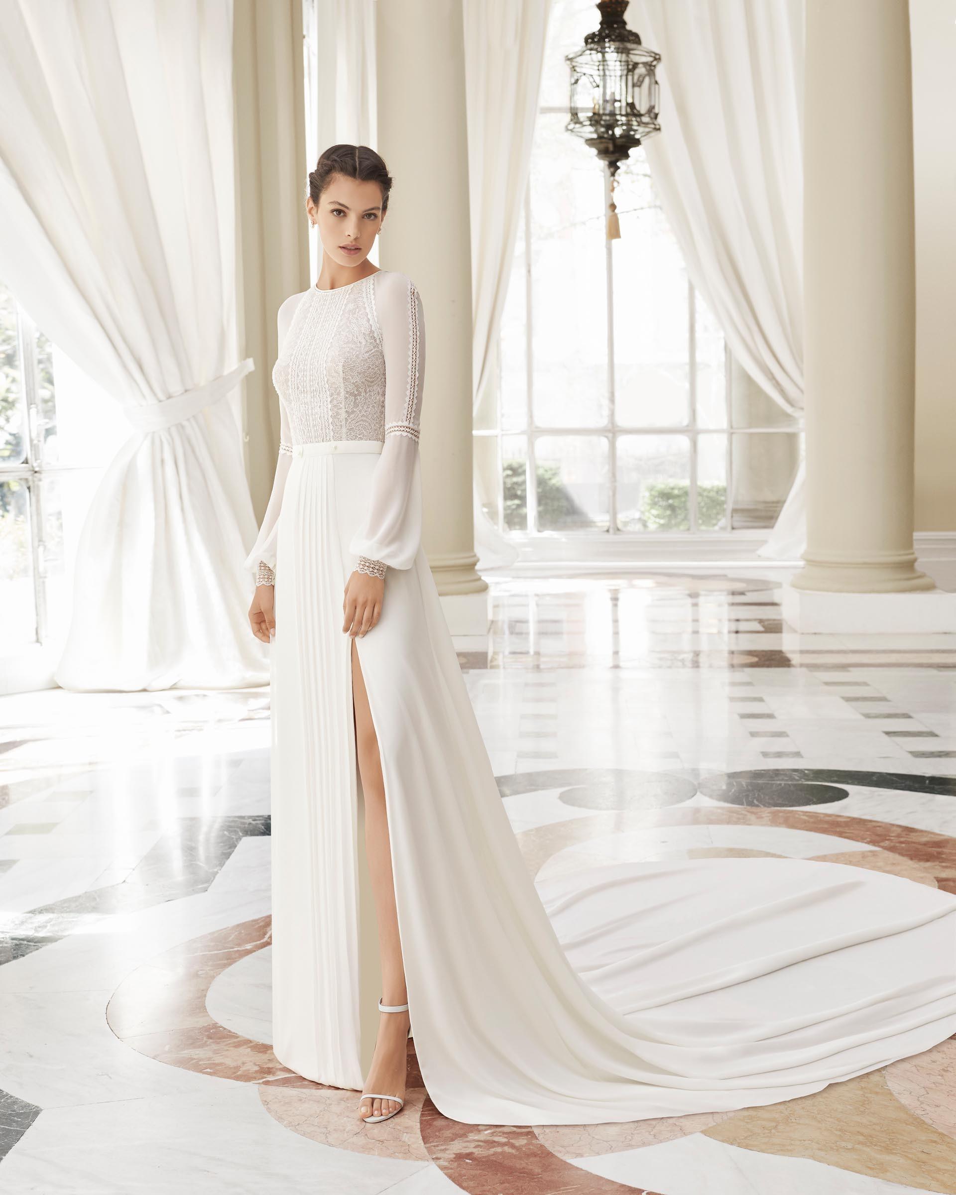 sehr edles Brautkleid mit langer Schleppe