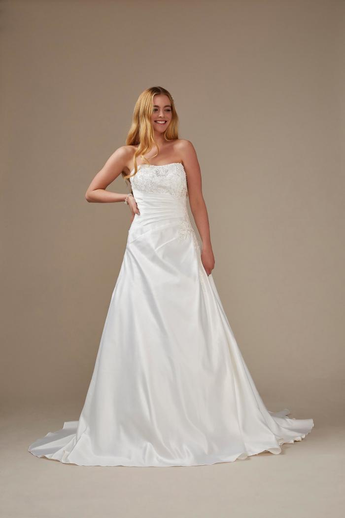 A-Linien Brautkleid trägerlos von Weise, Modell 336482