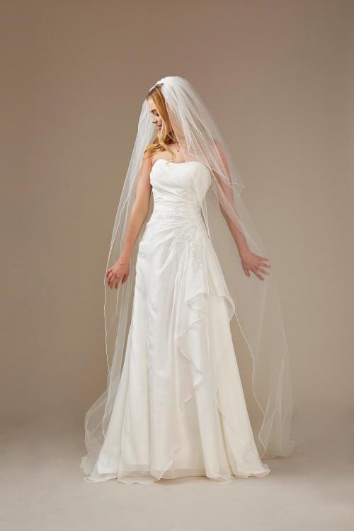trägerloses A-Linien Brautkleid mit Drapierung von Weise, Modell 336242