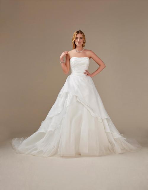 schulterfreies Prinzessinnen-Brautkleid von Weise, Modell 336042