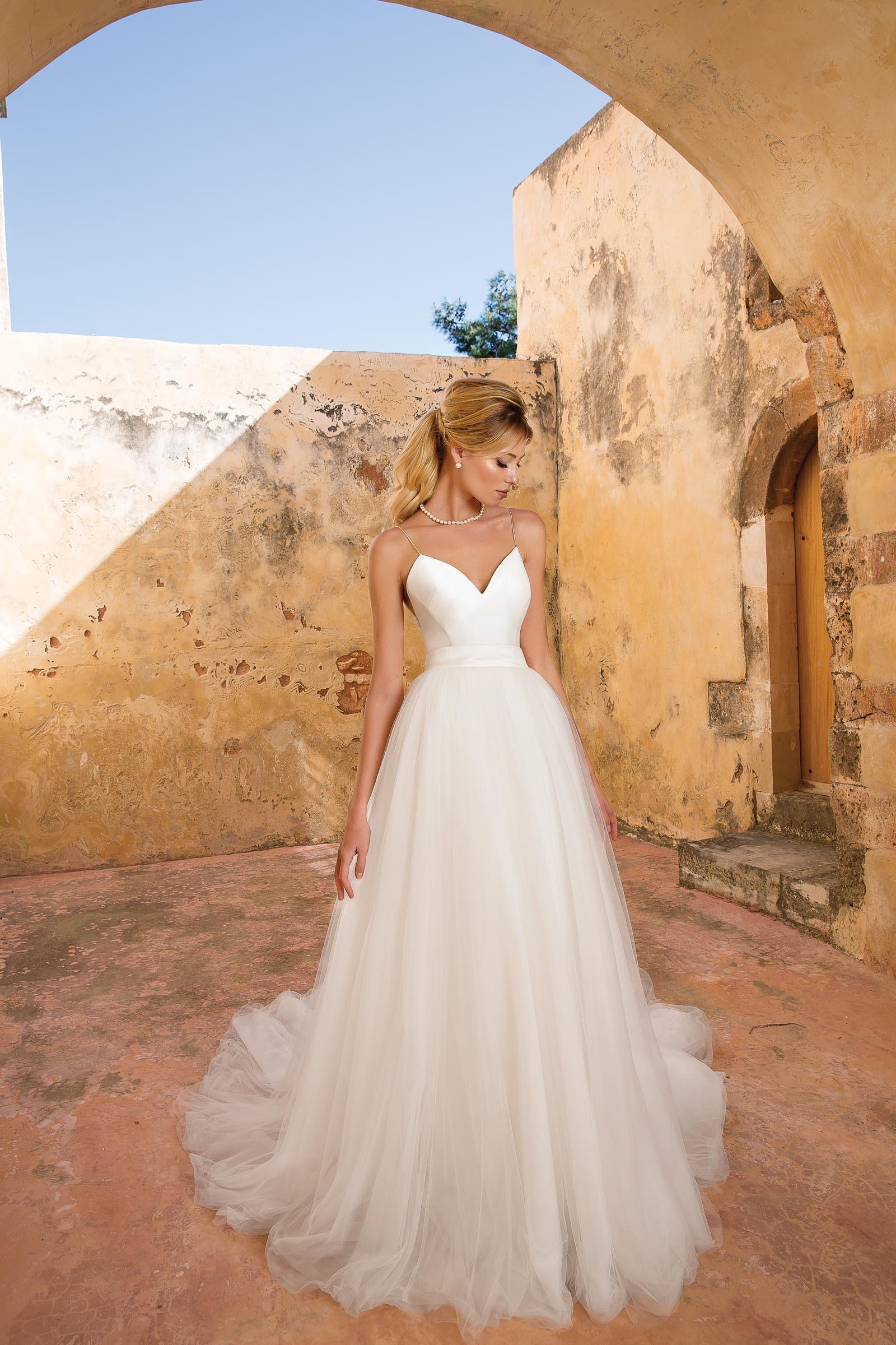 Wandelbares Brautkleid in Weiß von Justin Alexander, Modell 88065