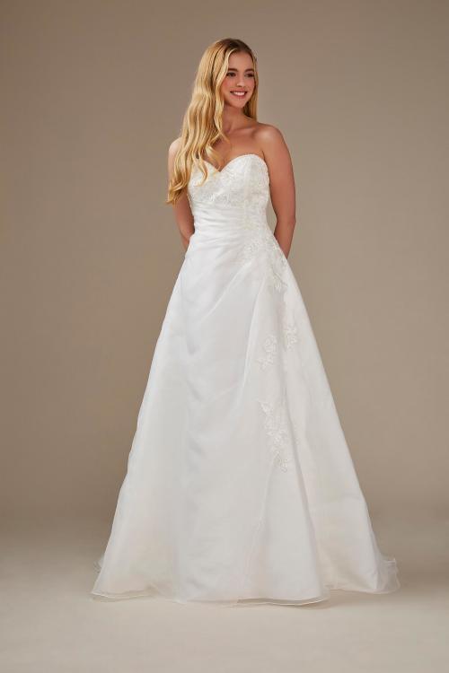 trägerloses A-Linien Brautkleid mit Herzausschnitt und Stickerei von Weise, Modell 336702