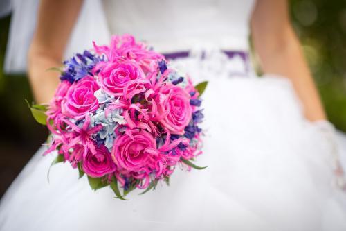Brautkugel in Pink und Lila