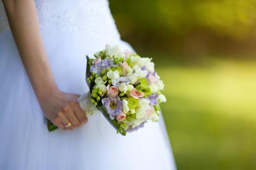 Brautkugel in Rosa und Lila