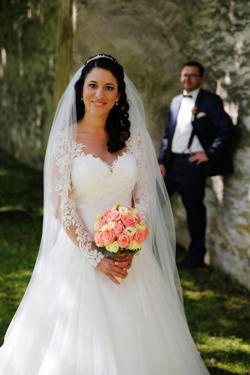 Brautkugel in Gelb und Apricot