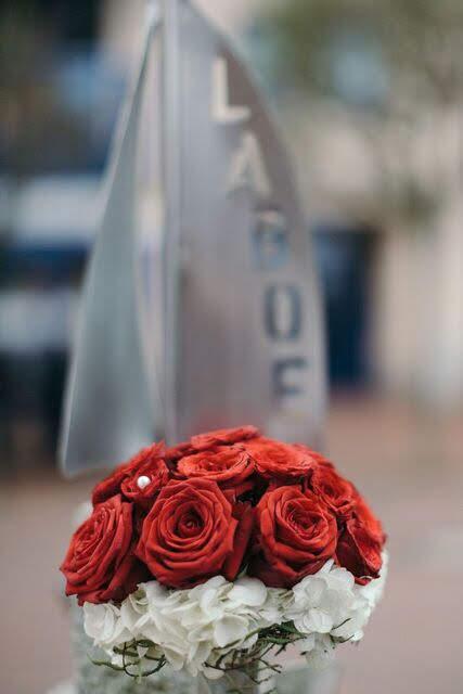 Brautkugel aus Rosen und Hortensien