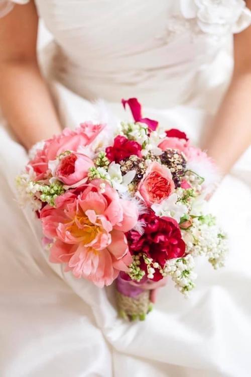 Blumenstrauß mit englischen Rosen