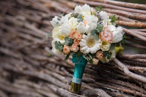 Brautstrauß pastellfarben mit verschiedenen Blumen