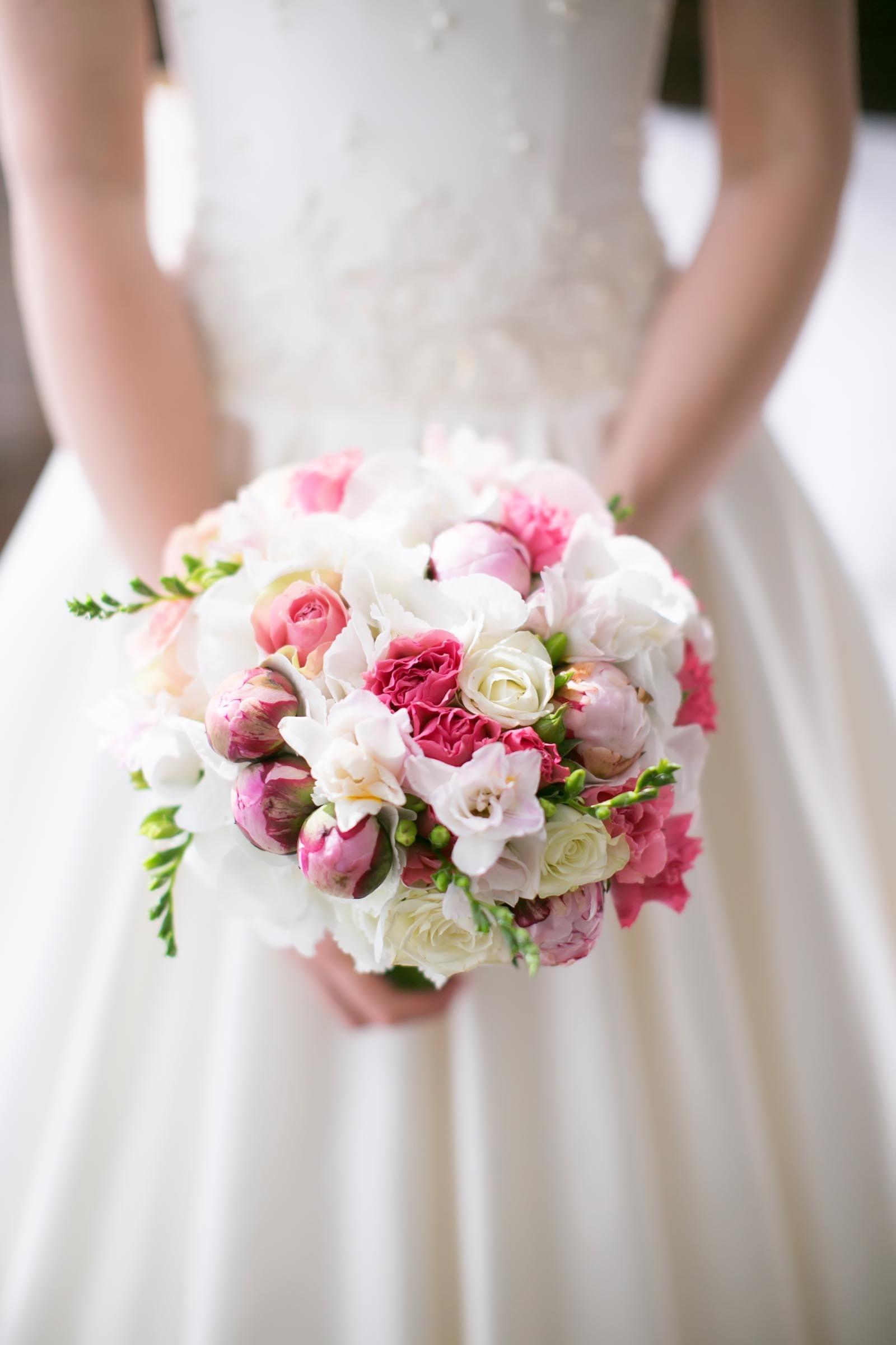 Brautstrauss In Rosa Und Weiss Heiraten Mit Braut De