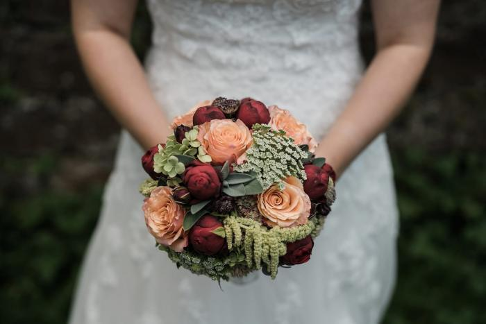 Brautkugel in herbstlichen Farben
