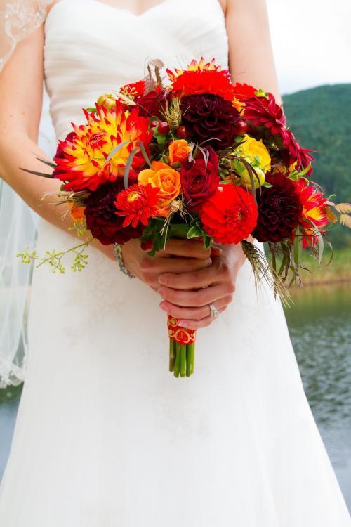 herbstlicher Brautstrauß