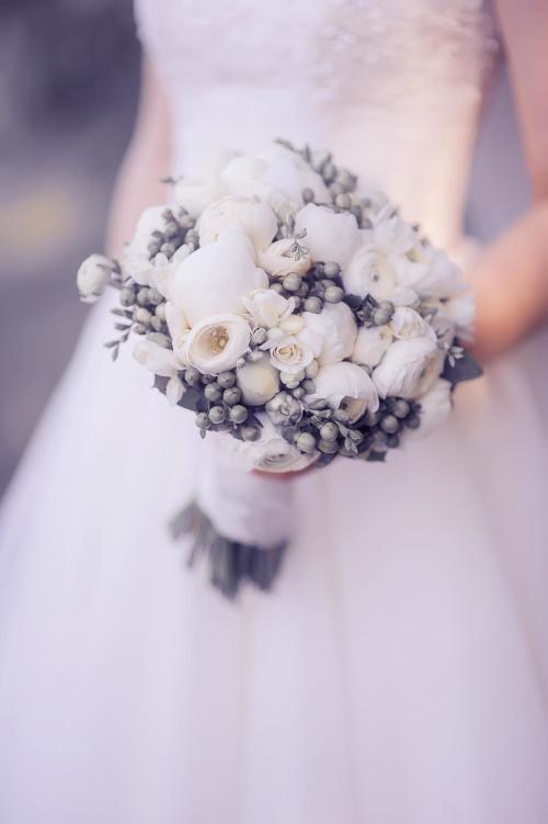 Winterlicher Hochzeitsstrauß