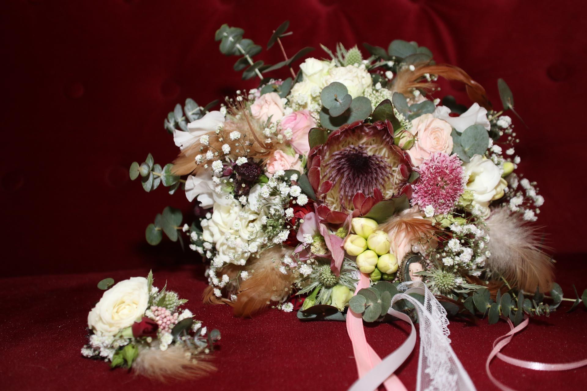 Vintage Brautstrauß herbstlich