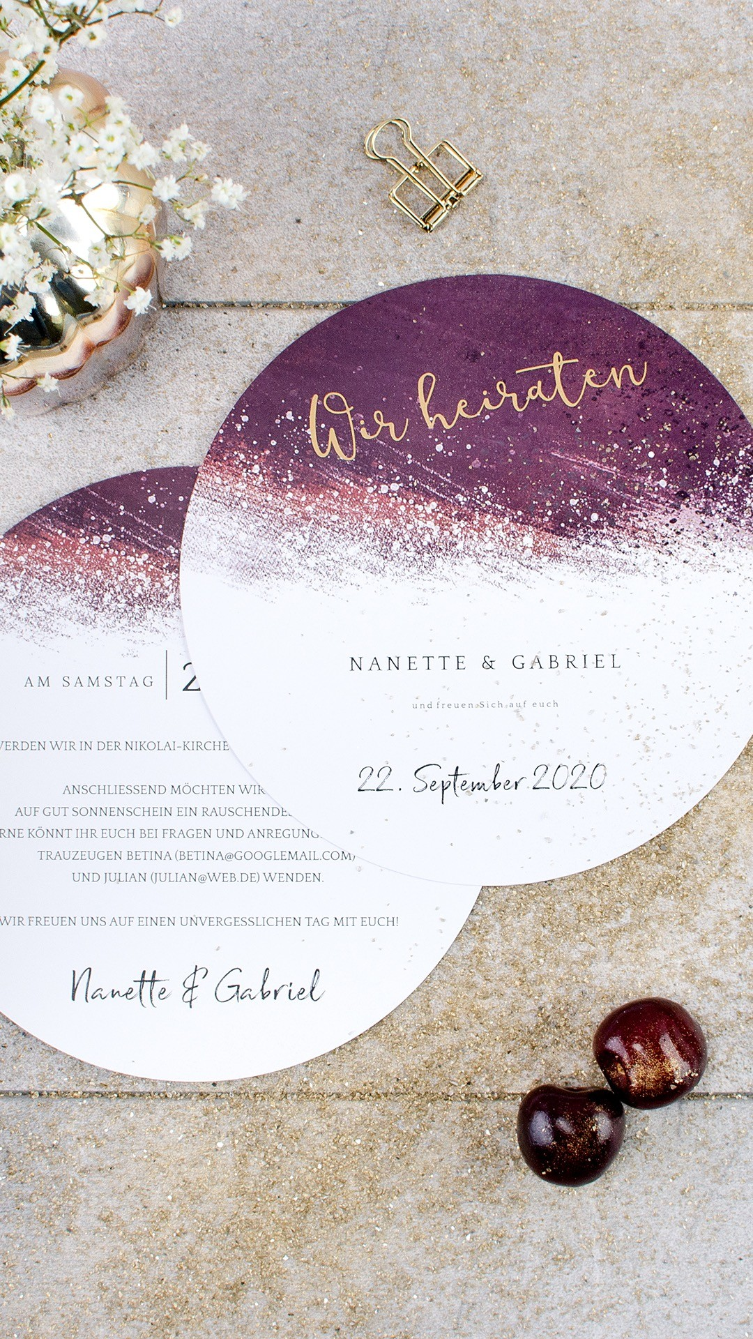 """Kartenserie """"Nanette & Gabriel"""" von Cariñokarten"""