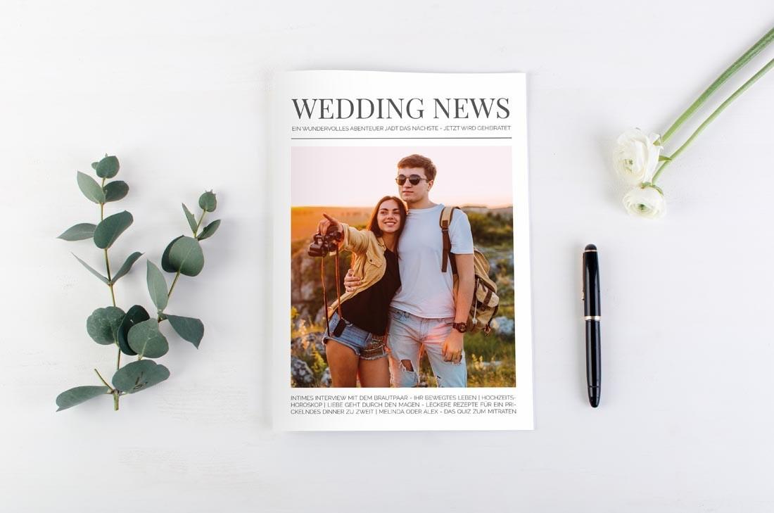 Hochzeitszeitung von carinokarten