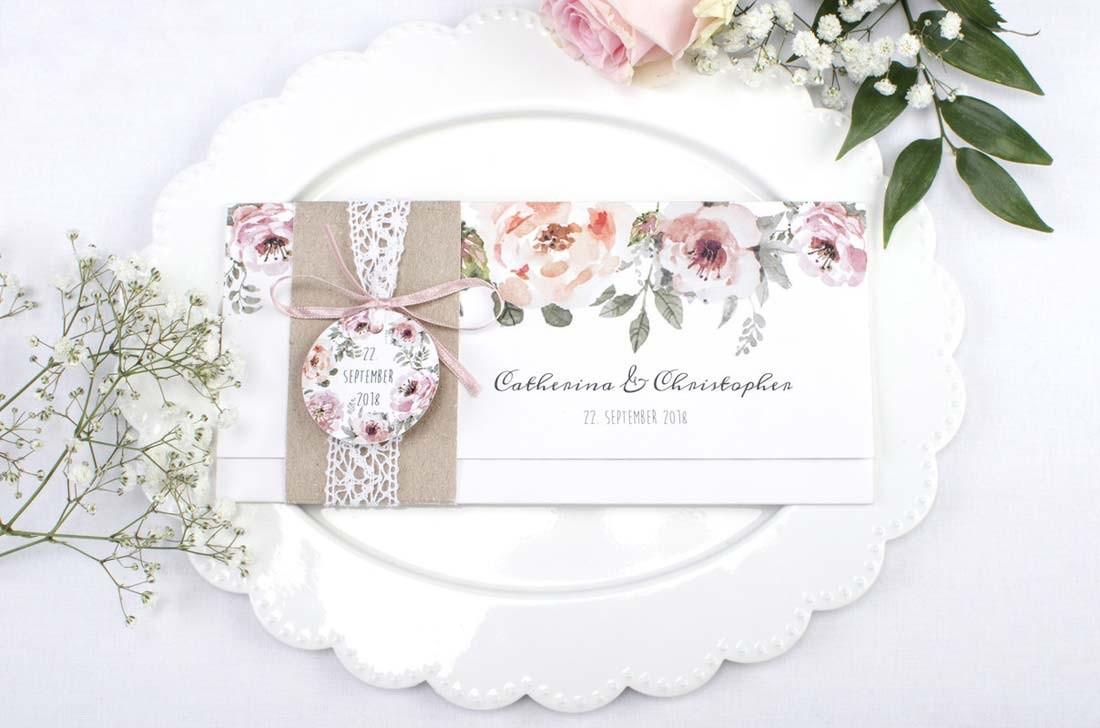 Hochzeitseinladung Stil Vintage