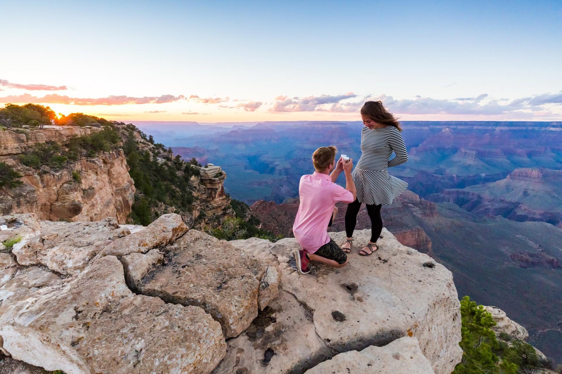 Heiratsantrag am Grand Canyon, Arizona