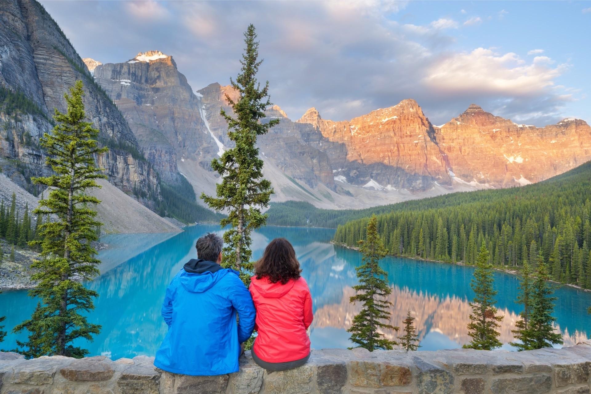 Heiratsantrag am Lake Louise in Banff