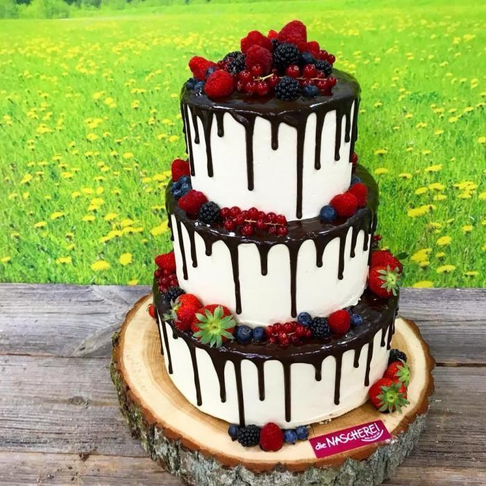 Dripped-Cake mit Schokolade