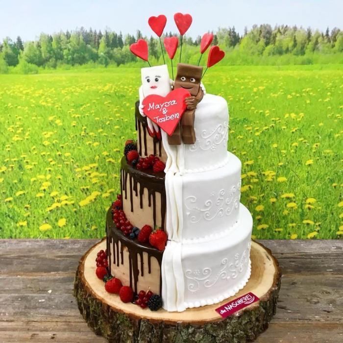 Kinderriegel-Hochzeitstorte