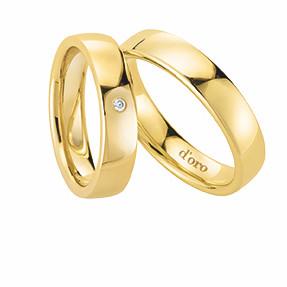 Damenring und Herrenring in Gelbgold 585 von Dorotheum Juwelier