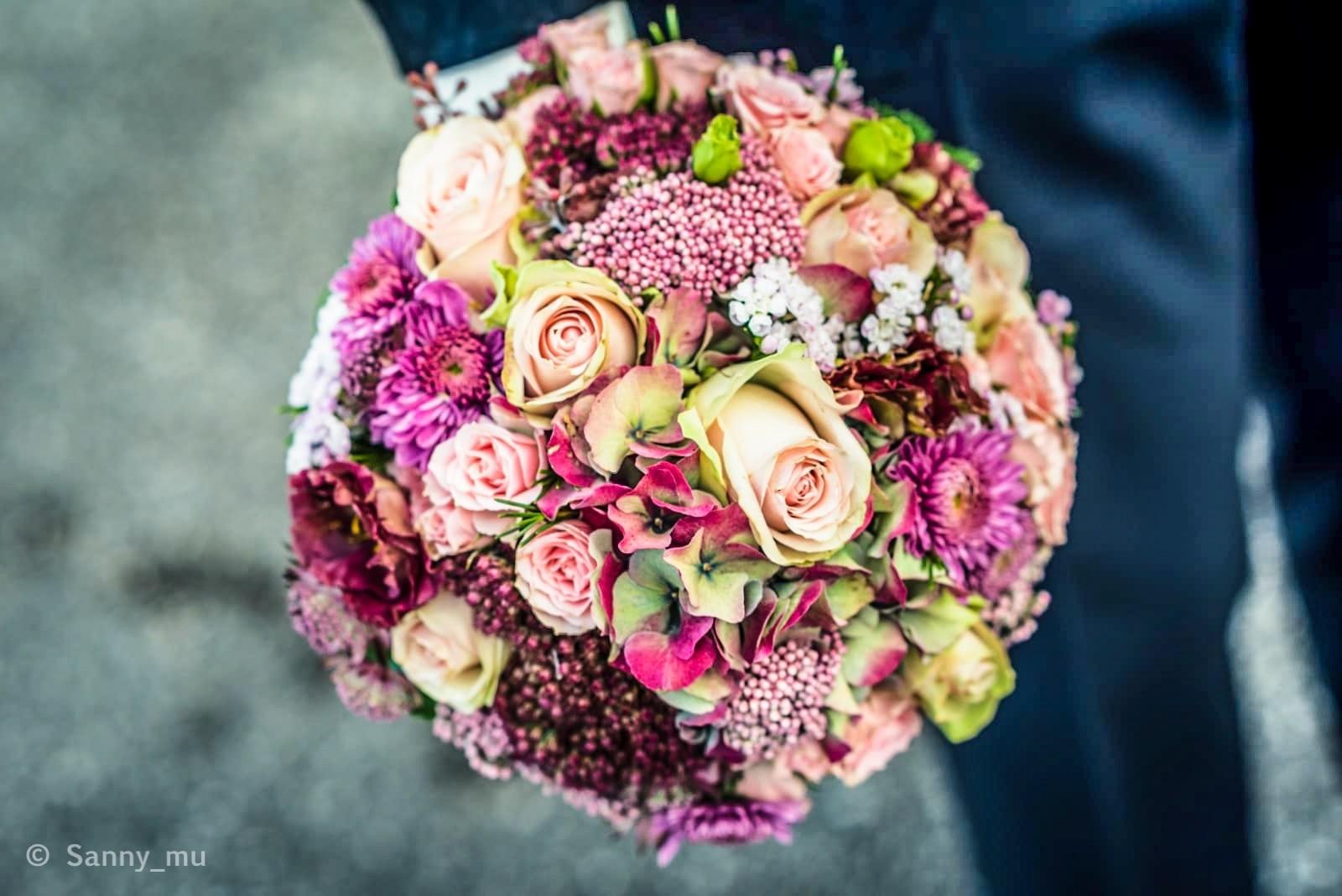 Brautstrauß in Herbstfarben