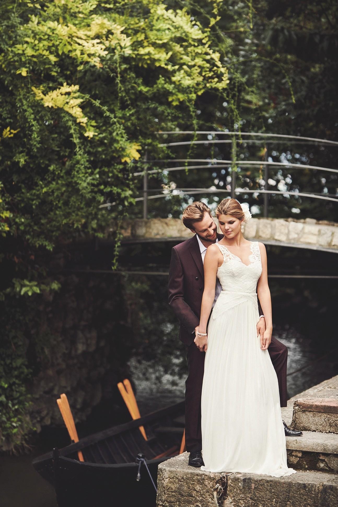 Brautkleid von Kisui Berlin, Anzug von Tziacco