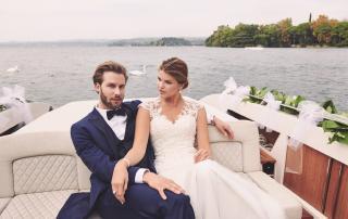 Brautkleid von Lilly, Anzug von Kuhn Maßkonfektion