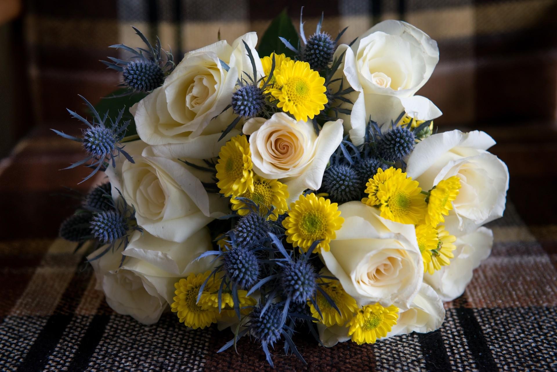 Hochzeitsblume Distel