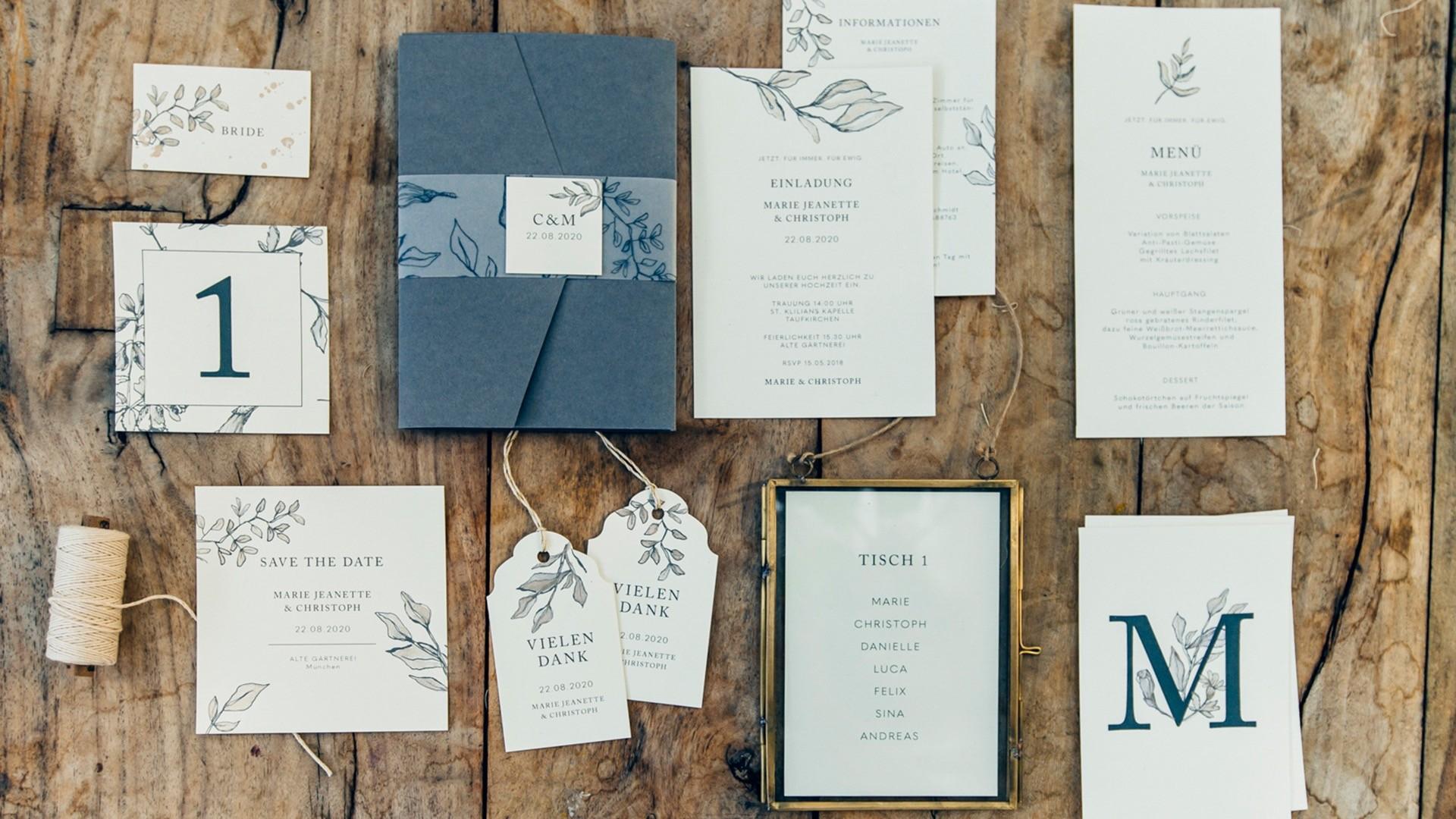 Hochzeitspapeterie von Farbgold Design