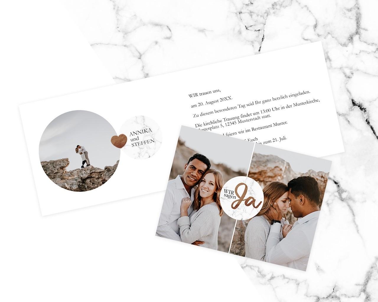 Hochzeitskarten von Meine Kartenmanufaktur