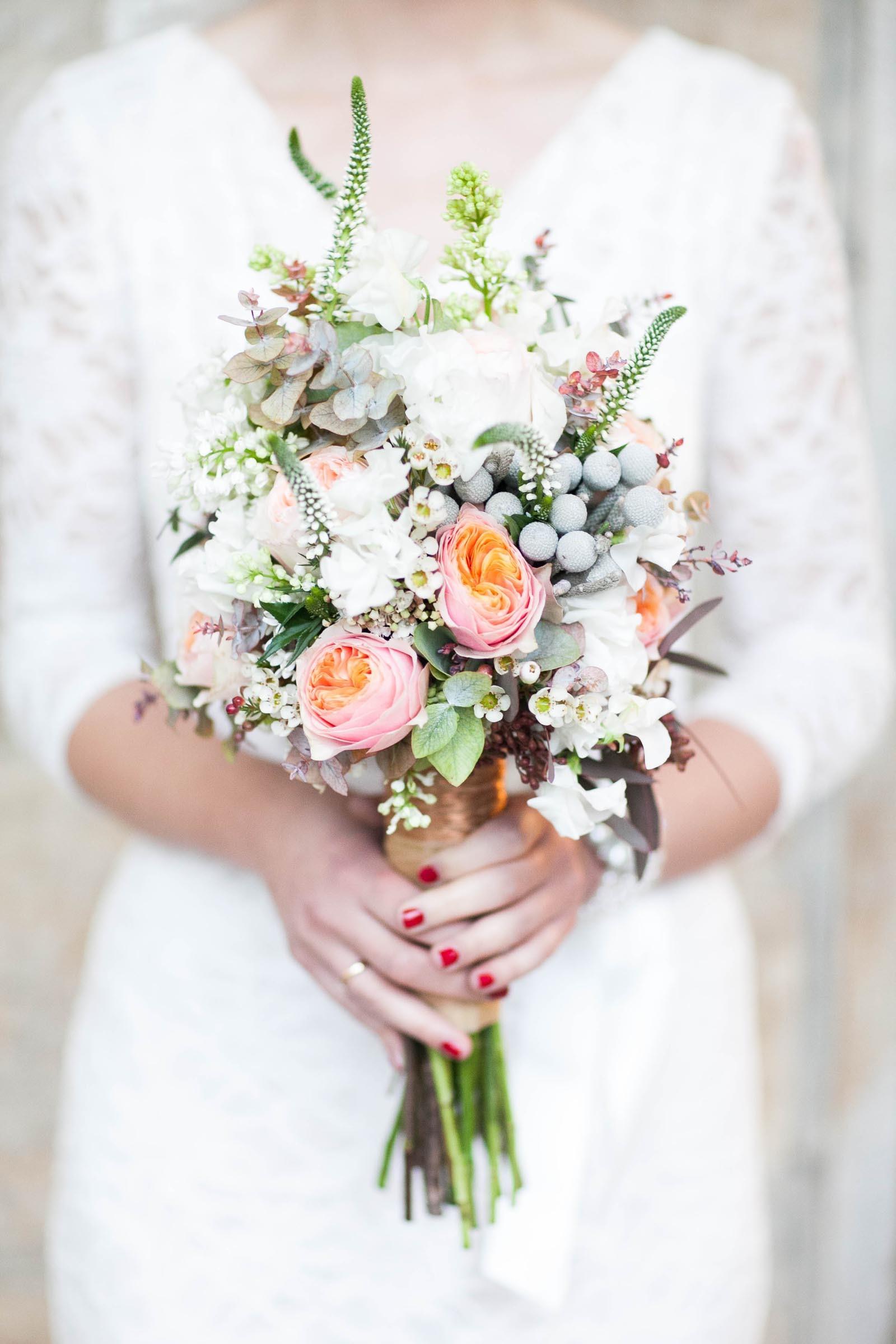 Brautstrauß mit englischen Rosen