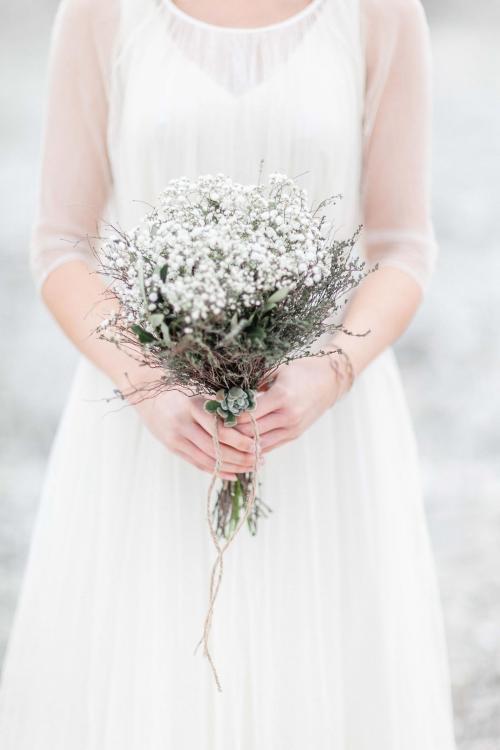 Brautstrauß aus Schleierkraut