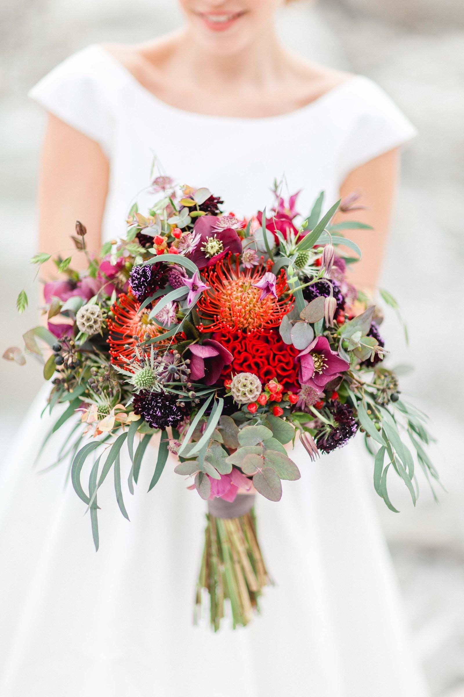 Brautstrauß im Boho-Stil