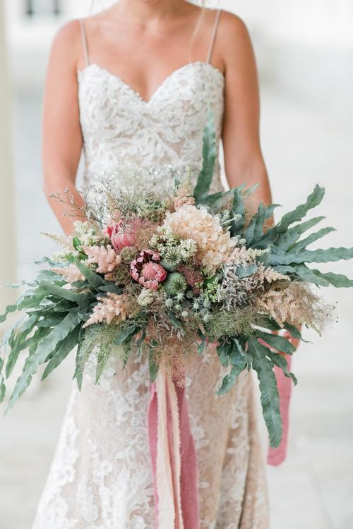 Brautstrauß im Vintage-Stil
