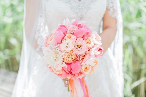 Brautkugel in rosa Farben